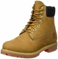 """Timberland Mens 6"""" Premium boot Leather Closed Toe Ankle, Wheat Nubuck, Size 9.0"""