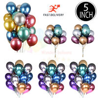 "5"" 10"" 100CHROME BALLOONS METALLIC LATEX PEARL Helium Balloon Birthday Party UK"