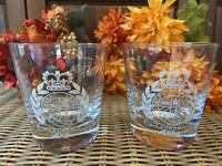 Ralph Lauren Emblem Etched Glass Glasses Old Fashioned Crystal Whiskey Lot Of 2