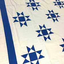 Very Traditional Blue and White Ohio Star - QUILT TOP - Viberant Graphic design