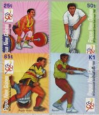 PAPUA NEUGUINEA NEW GUINEA 1998 832-35 952-55 Commonwealth Sports Games Rugby **