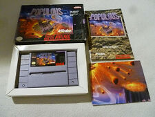 BOXED SUPER NINTENDO SNES GAME POPULOUS COMPLETE W MANUAL POSTER & BOX ACCLAIM >