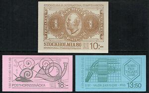 SWEDEN 1983 3 complete booklets inc. Nobel, Stockholmia I unmounted mint