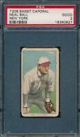 1909 - 1911 T206 Neal Ball New York SWEET CAPORAL 150 PSA 2 Good *OBGcards*