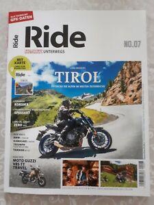 Ride Motorrad unterwegs, Lieblingsziel Tirol, mit Karte und GPS-Daten, Ausgabe 7