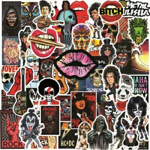 50PCS Rock and Roll Stickers Music Decals Graffiti for Luggage Skateboard Laptop