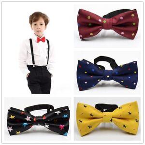 Children Kids Toddler Boys Bowtie Pre Tied Fashion Bow Tie Necktie Wedding Party