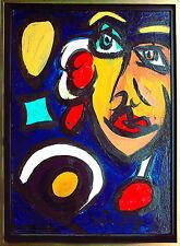 Peter Robert Keil *1942: Berlin Nights IV Kopf mit bunten Lichtern 70 x 50 1987
