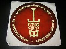 CZIG MEISTER BREWING New Jersey brown STICKER decal craft beer brewery