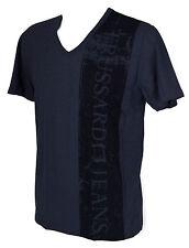 T-shirt maglietta V uomo TRUSSARDI JEANS art.TR0038 taglia XXL col. 637F BALTICO