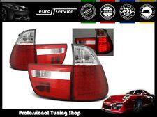 FEUX ARRIERE ENSEMBLE LDBM21 BMW X5 E53 1999 2000 2001 2002 2003 RED WHITE LED