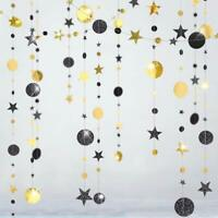 Black Gold Twinkle Little Star Party Banner Ramadan EID Mubarak Graduation Decor