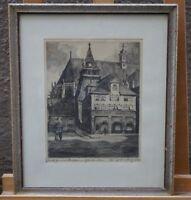 Walter Romberg (Ulm 1898 - 1973 Stuttgart) Schwäbisch Gmünd Münster Glockenturm