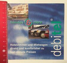 Aufkleber/Sticker: Minutes & More - Debitel Hotelzimmer & Mietwagen (050516180)