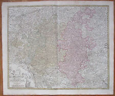 Homann Detailed Map Luxemburg Luxembourg Ducatus Luxemburgi - 1740