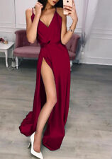 Sexy Women Silk Evening Party Ball Prom Gown Formal Cocktail Wedding Long Dress