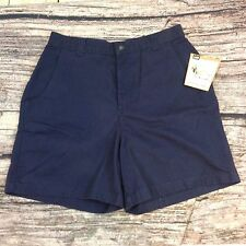 Lee Casuals for Women Plain Front Shorts 14M-- Navy Blue--NEW WITH TAGS