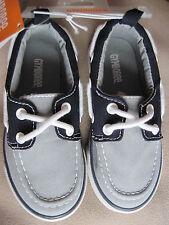 NWT Gymboree Boys Grey Boat Shoes Size 9