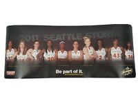 "2011 Seattle Storm Team Photo WNBA Basketball - 30"" x 12"" - Sue Bird & Jackson"