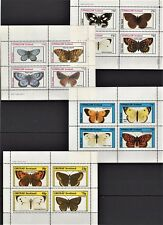 SCOTLAND EYNHALLOW GRUNAY 1982 BUTTERFLIES PRE-INDEPENDENCE 4 FULL SHEETS MNH S