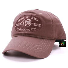 RNT RICH-N-TONE 40TH ANNIVERSARY BROWN HAT BALL CAP WITH LOGO DUCK GOOSE CALLS