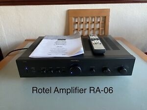 Rotel RA-06 Amplifier -phono stage (remote & instructions)