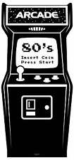 Années 1980 noir et blanc Vidéo Jeu D'Arcade Découpe De Carton Grandeur Nature/