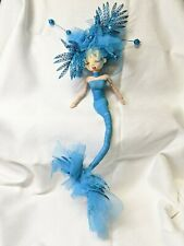 Handmade Doll with BLUE MERMAID custome - made in Colombia