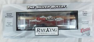 2006 MTH Rail King Coors Light Silver Bullet Operating Reefer Car 30-78040 MIB