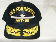 fdefb75f28a62 États-unis Marine Casquette Original Uss Forrestal Fabriqué aux États Unis  Doube