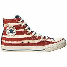 CONVERSE ALL STAR CHUCKS SCHUHE EU 41 UK 7,5 USA FLAG PUNK STARS & STRIPES ROT