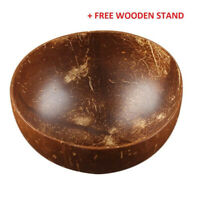 1Pcs Natural Coconut Bowl Wooden Vegan Organic Salad Smoothie or Buddha Bowl New