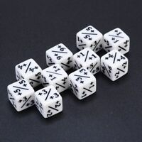 10 White Dice Counters +1/+1 For Magic The Gathering MTG Games Poker Party Dices