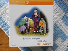 Dept 56 Halloween Village Accessory How About Our Lay Away Plan? Nib (B)