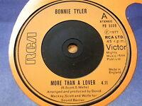 "BONNIE TYLER - MORE THAN A LOVER  7"" VINYL"