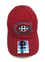 Montreal Canadiens Fanatics Youth Red NHL Team Logo Adjustable Hockey Cap Hat