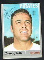 Dave Giusti #372 signed autograph auto 1970 Topps Baseball Trading Card
