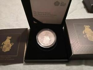 2018 GB Proof 1 oz Silver The Queens Beast The Black Bull of Clarence