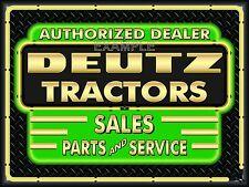DEUTZ TRACTORS DEALER REMAKE NEON EFFECT PRINT BANNER SIGN ART MURAL 4' X 3'