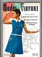 Modes et travaux N°797 Mai 1967  page poupées tricot crochet mode vintage