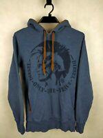 Verkauf% Diesel Hoodie Big Logo Gr. S Jumper Kapuzenpullover Baumwolle Blau