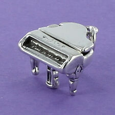 Grand Piano Charm Sterling Silver for Bracelet Music Open Lid Pianist Musician
