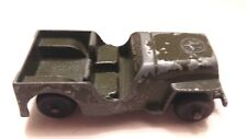 "1950 Tootsietoy DIE CAST AUTOMOBILE Willys CJ3 Army Jeep 2-1/2"" Olive Green USA"