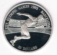 10 Dollars Cook Islands Olympic Games 1992 Barcelona 1990 10g 925 Silber PP (3)