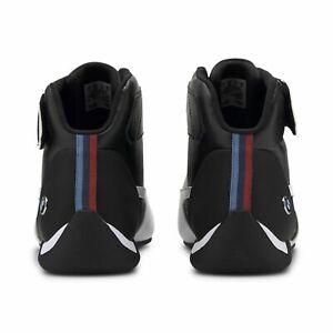 NIB GENUINE PUMA BMW MOTORSPORT MENS SNEAKERS FINE BLACK WHITE ATHLETIC SHOES 13