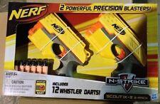 Brand New NERF N-Strike SCOUT IX-3 Dart BLASTER 2 Pack