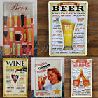 Vintage Pub Bar Wall Poster Tavern Tin Sign Shabby Decor Metal Plaque Chic E