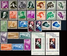 España Año Completo 1958** Nuevo sin Charnela MNH (incluye Hojas Bruselas) Lujo