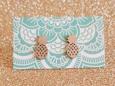 Pineapple Stud Earrings Silver Girls Earrings Stainless Steel Minimalist