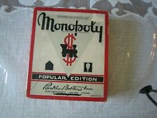 Vtg Monopoly Game Lot- Wood Houses Hotels & Tokens,  Dice, Property, Money, Box